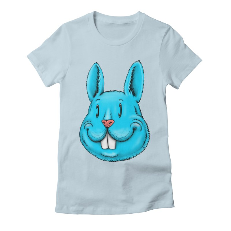 Bunny Women's Fitted T-Shirt by IDC Art House