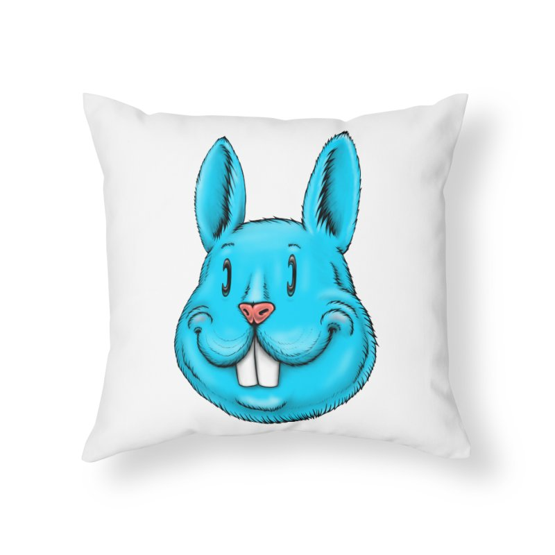 Bunny Home Throw Pillow by Stiky Shop