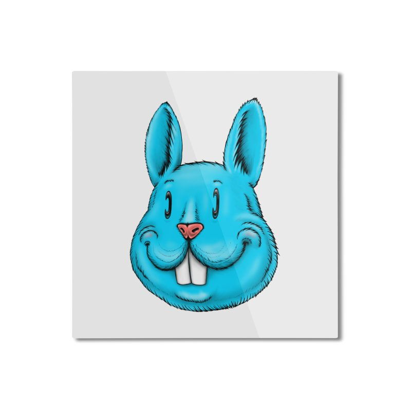 Bunny Home Mounted Aluminum Print by Stiky Shop