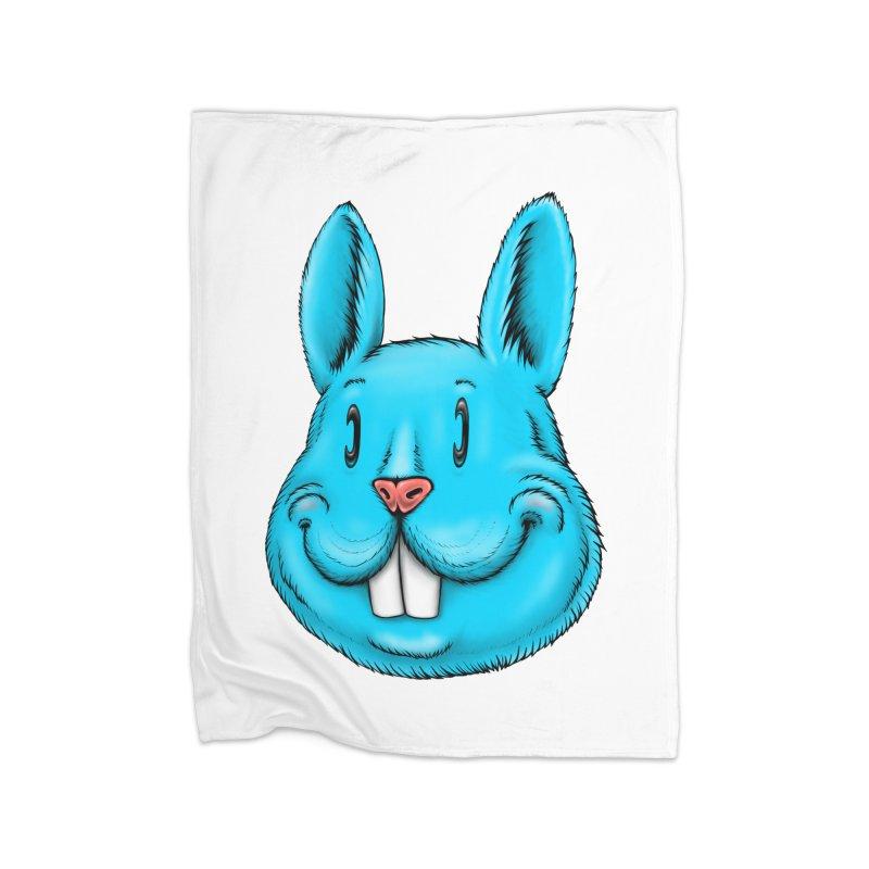 Bunny Home Fleece Blanket Blanket by Stiky Shop