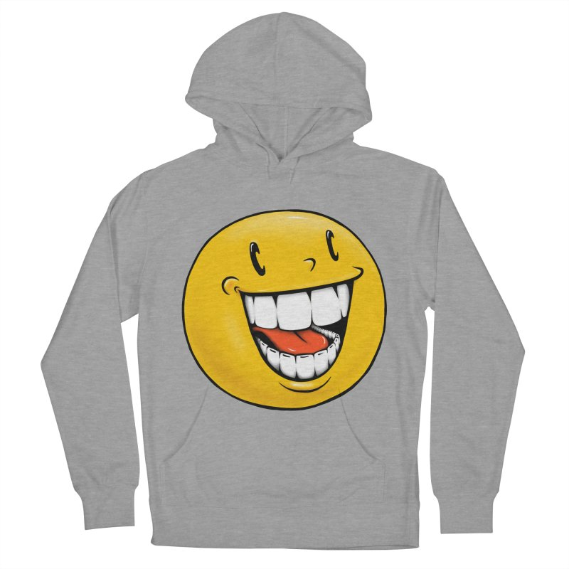 Smiley Emoji Women's French Terry Pullover Hoody by IDC Art House