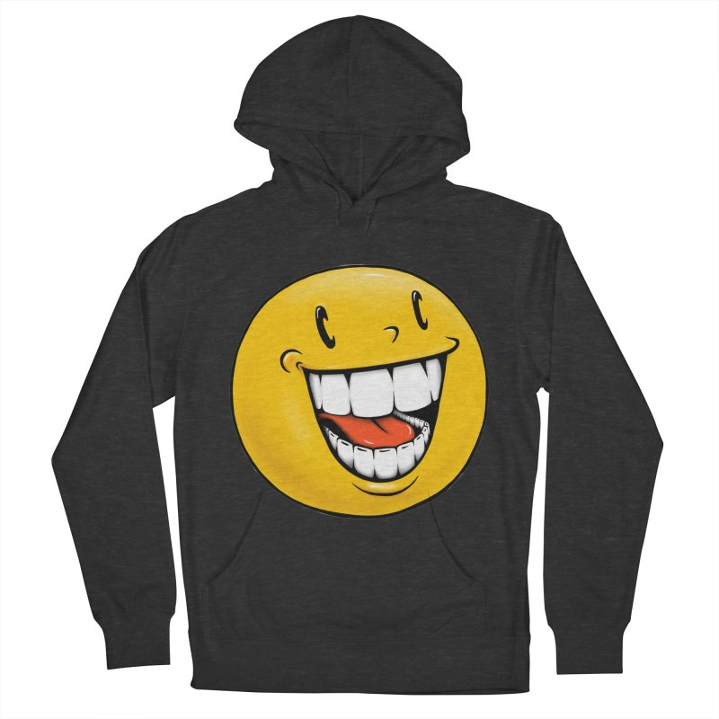 Smiley Emoji Men's French Terry Pullover Hoody by Stiky Shop