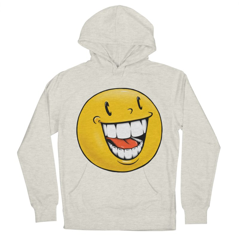 Smiley Emoji Men's French Terry Pullover Hoody by IDC Art House
