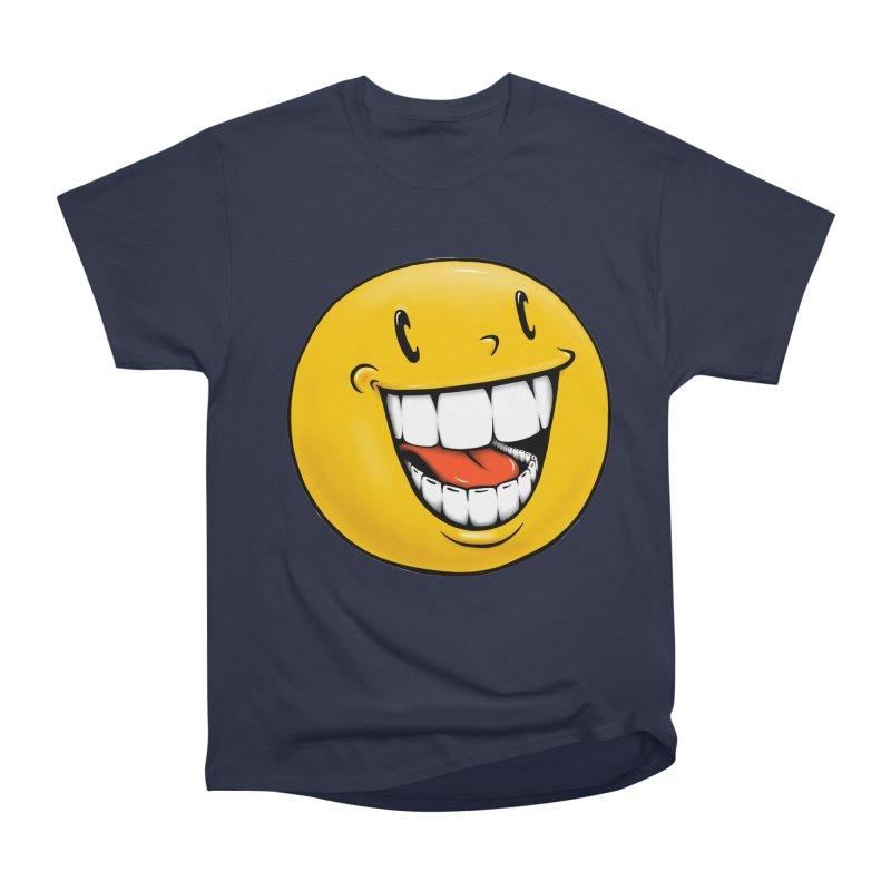 Smiley Emoji Women's Heavyweight Unisex T-Shirt by IDC Art House