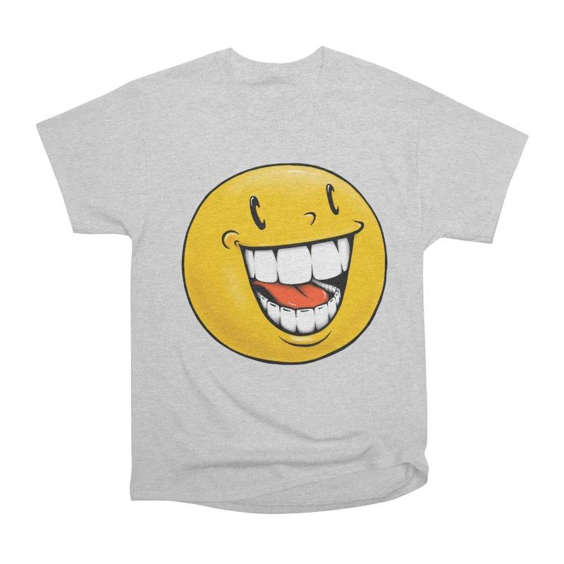 Smiley Emoji Women's Heavyweight Unisex T-Shirt by Stiky Shop