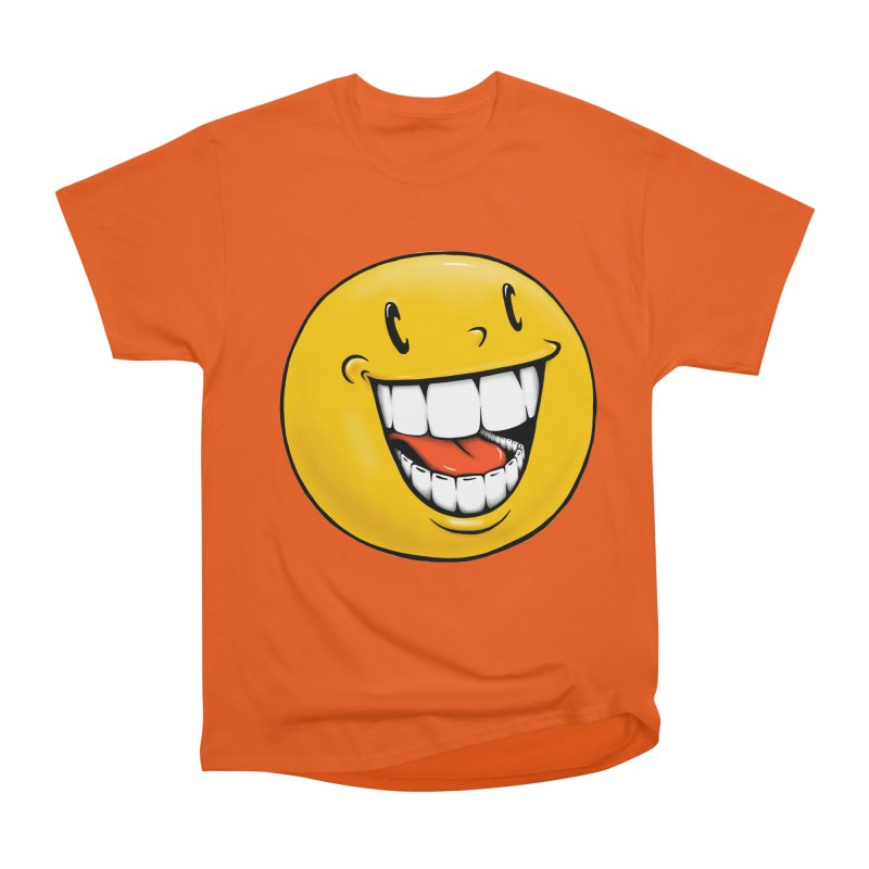 Smiley Emoji Men's Heavyweight T-Shirt by IDC Art House