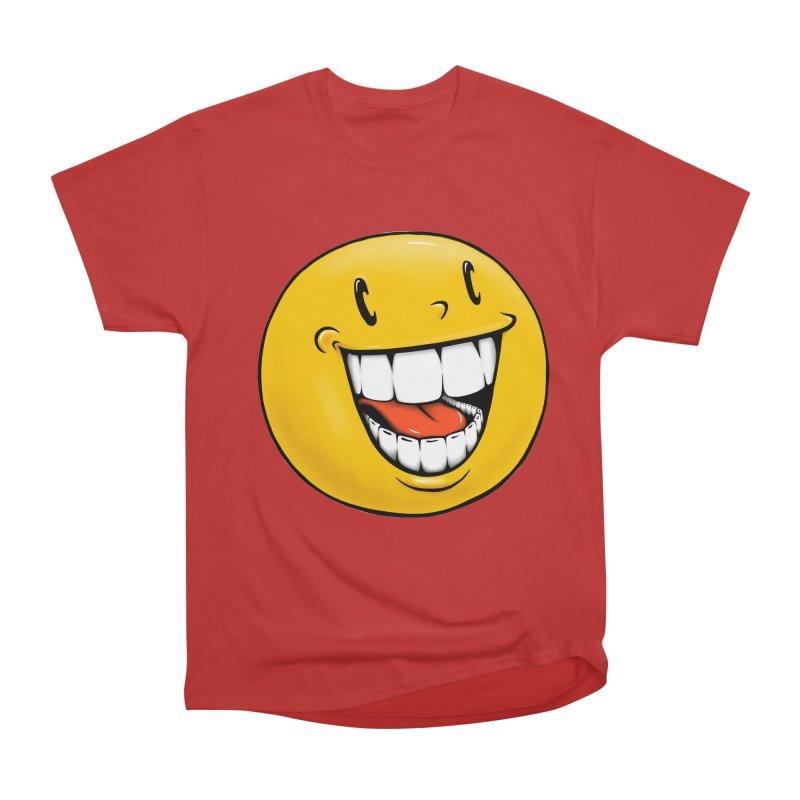 Smiley Emoji Men's Heavyweight T-Shirt by Stiky Shop
