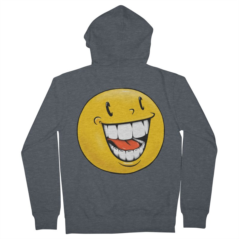 Smiley Emoji Women's French Terry Zip-Up Hoody by Stiky Shop