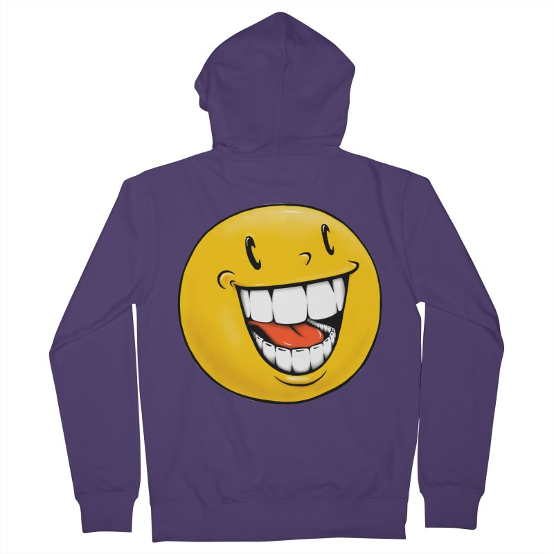 Smiley Emoji Women's French Terry Zip-Up Hoody by IDC Art House