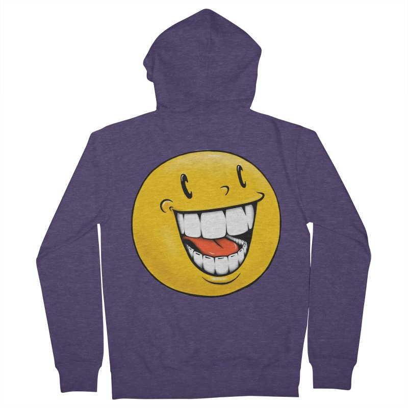 Smiley Emoji Men's French Terry Zip-Up Hoody by Stiky Shop