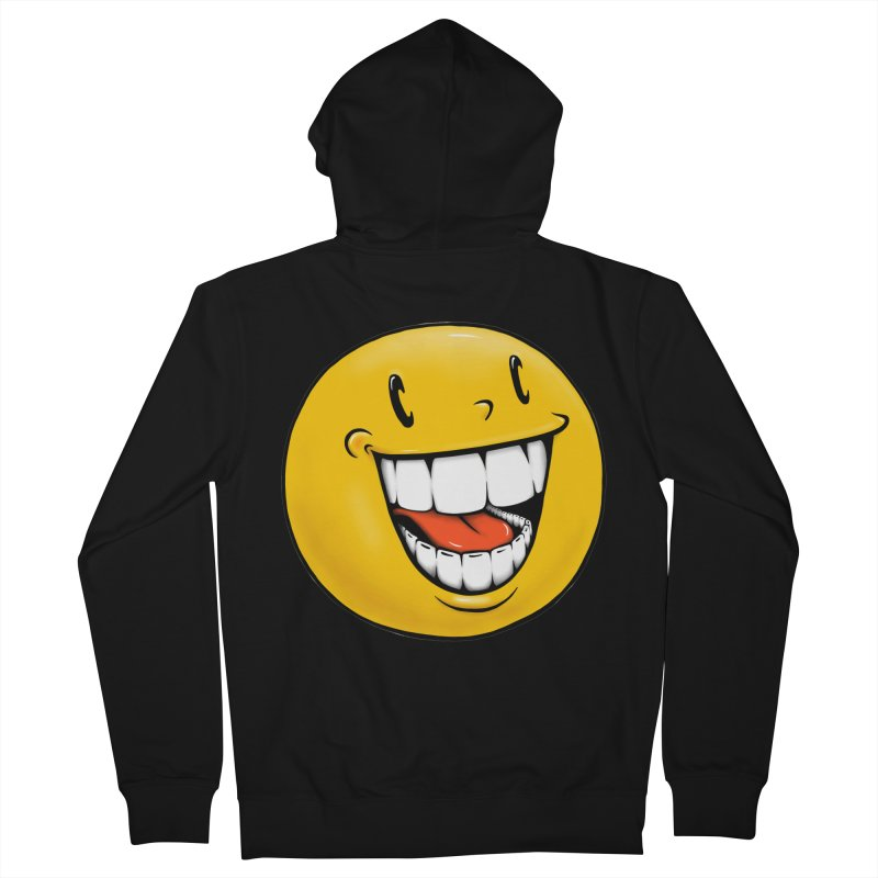 Smiley Emoji Men's French Terry Zip-Up Hoody by IDC Art House