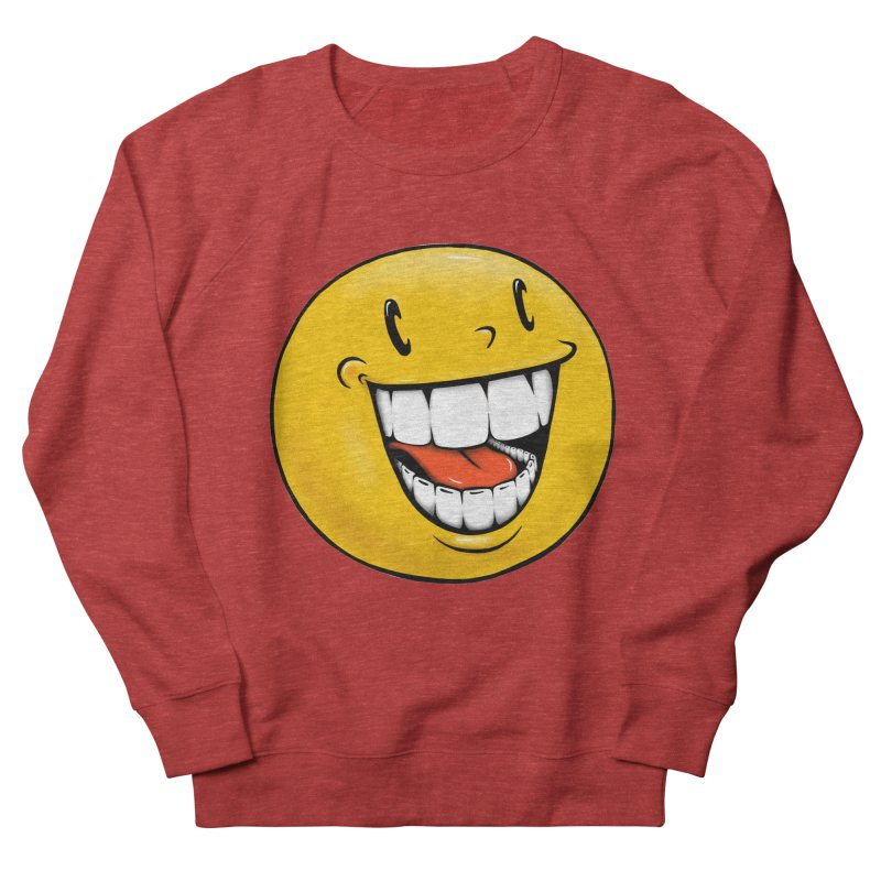 Smiley Emoji Men's French Terry Sweatshirt by Stiky Shop