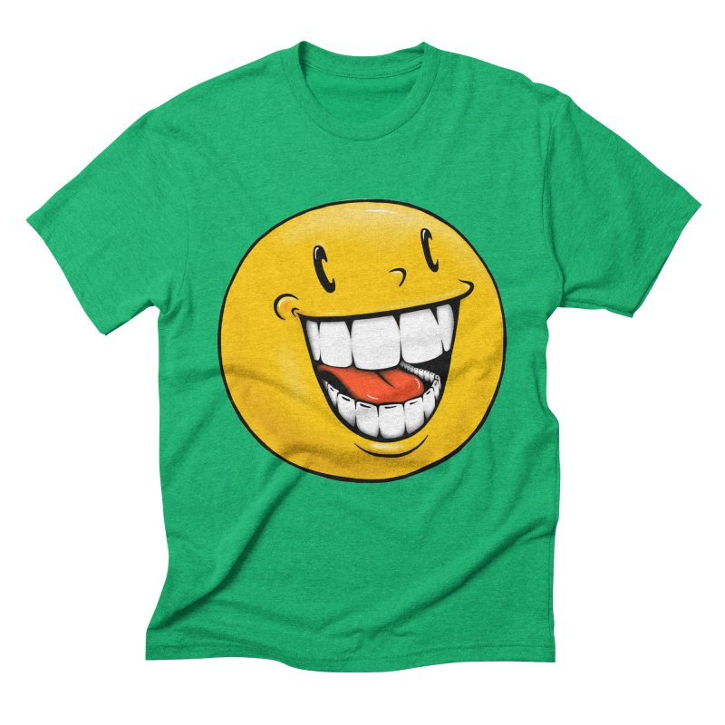 Smiley Emoji Men's Triblend T-Shirt by IDC Art House