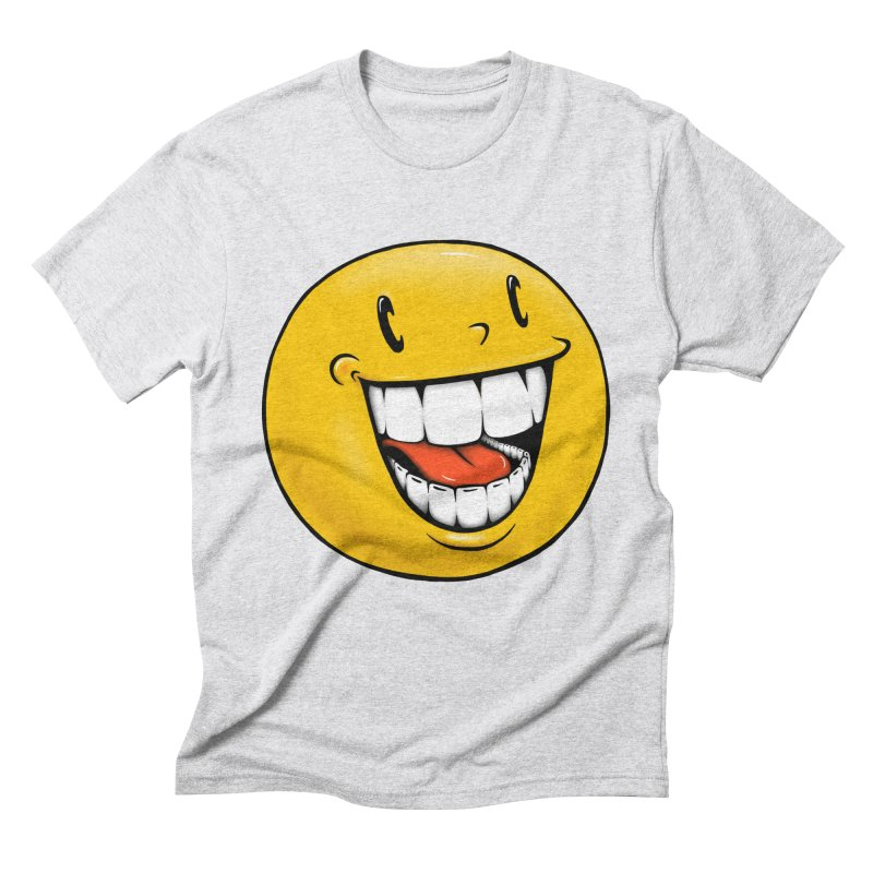 Smiley Emoji Men's Triblend T-Shirt by Stiky Shop
