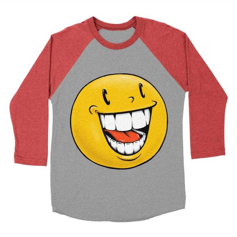 Smiley Emoji Women's Baseball Triblend Longsleeve T-Shirt by Stiky Shop