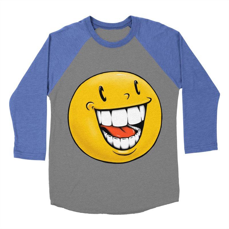 Smiley Emoji Men's Baseball Triblend Longsleeve T-Shirt by IDC Art House