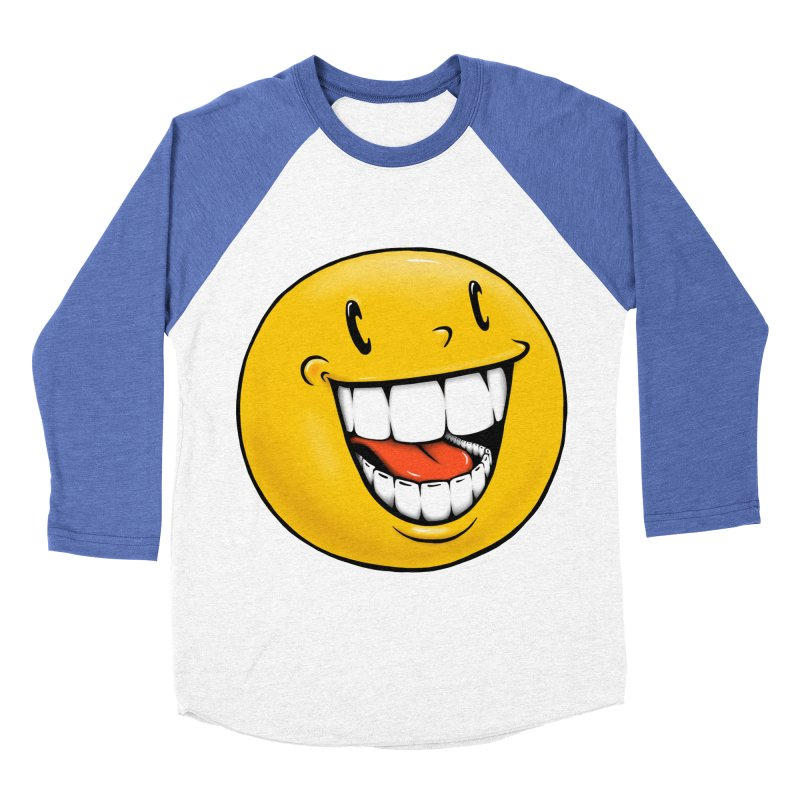 Smiley Emoji Men's Baseball Triblend Longsleeve T-Shirt by Stiky Shop