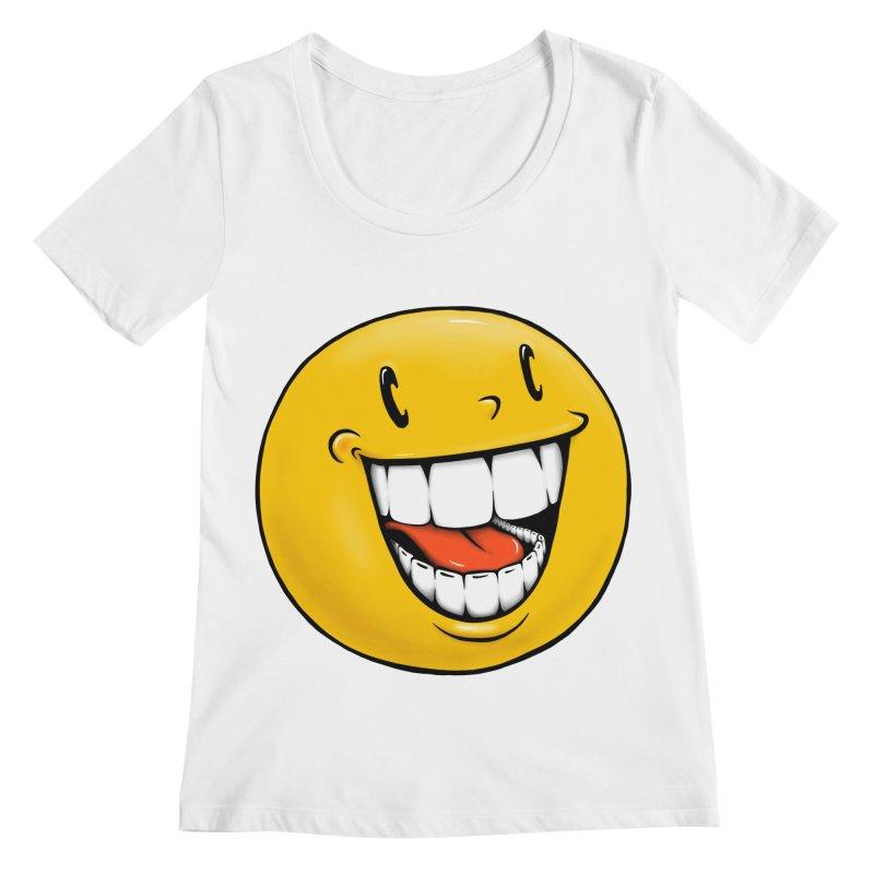 Smiley Emoji Women's Regular Scoop Neck by IDC Art House