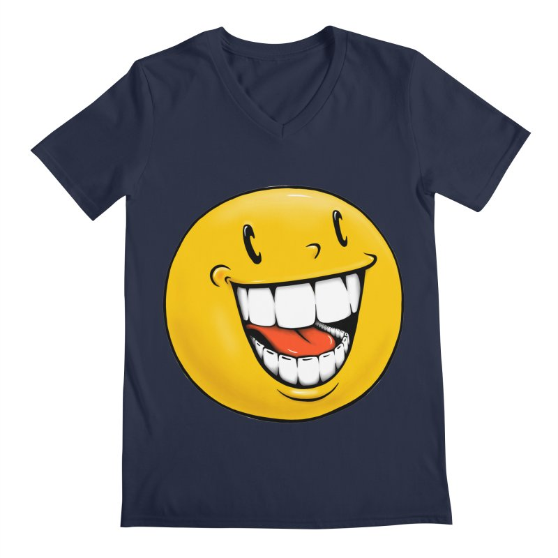 Smiley Emoji Men's Regular V-Neck by Stiky Shop