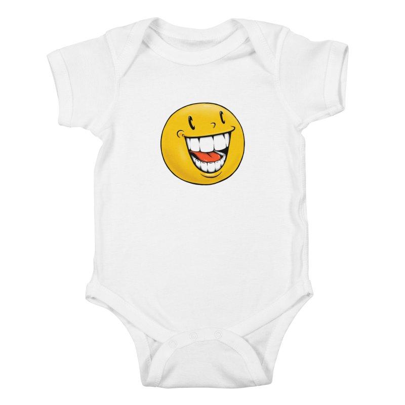 Smiley Emoji Kids Baby Bodysuit by IDC Art House