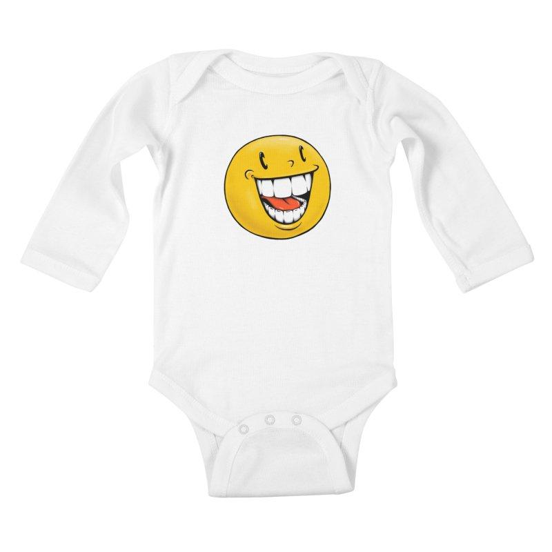 Smiley Emoji Kids Baby Longsleeve Bodysuit by Stiky Shop