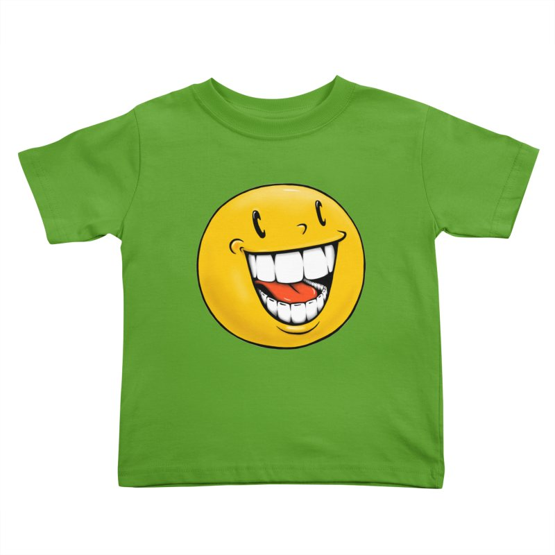 Smiley Emoji Kids Toddler T-Shirt by Stiky Shop