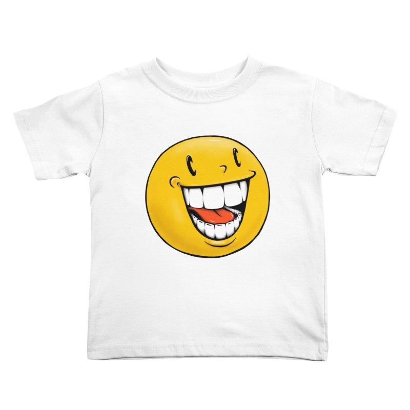Smiley Emoji Kids Toddler T-Shirt by Stiky Shop