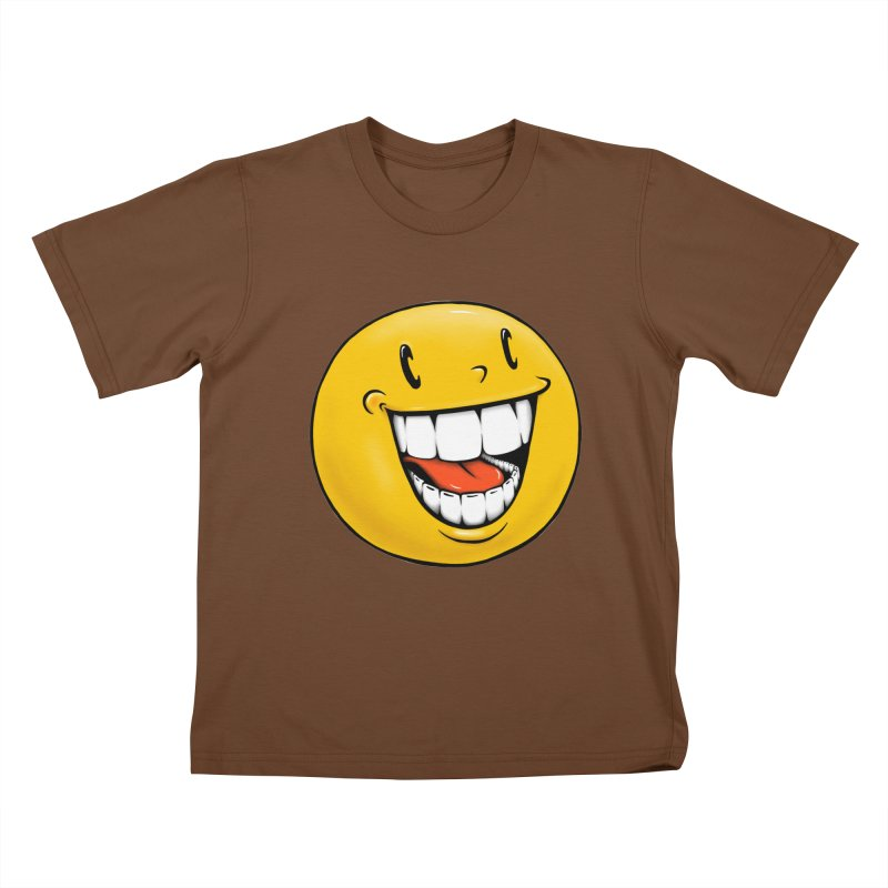 Smiley Emoji Kids T-Shirt by Stiky Shop