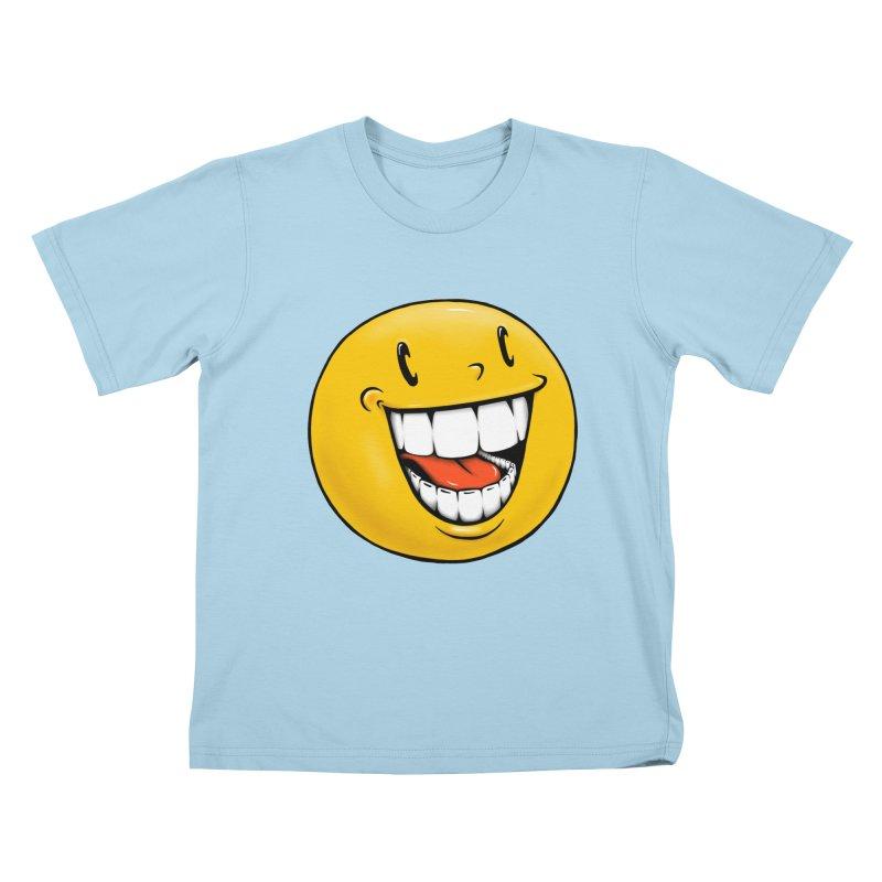 Smiley Emoji Kids T-Shirt by IDC Art House