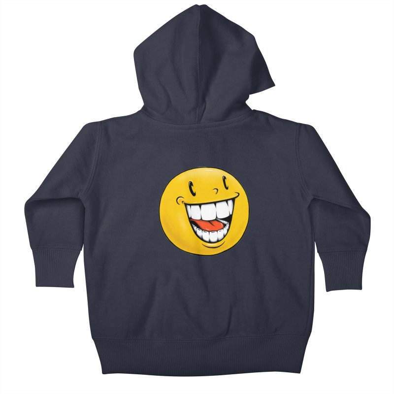 Smiley Emoji Kids Baby Zip-Up Hoody by Stiky Shop