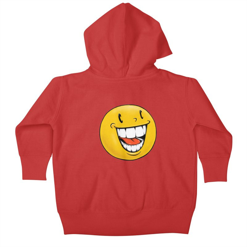 Smiley Emoji Kids Baby Zip-Up Hoody by IDC Art House