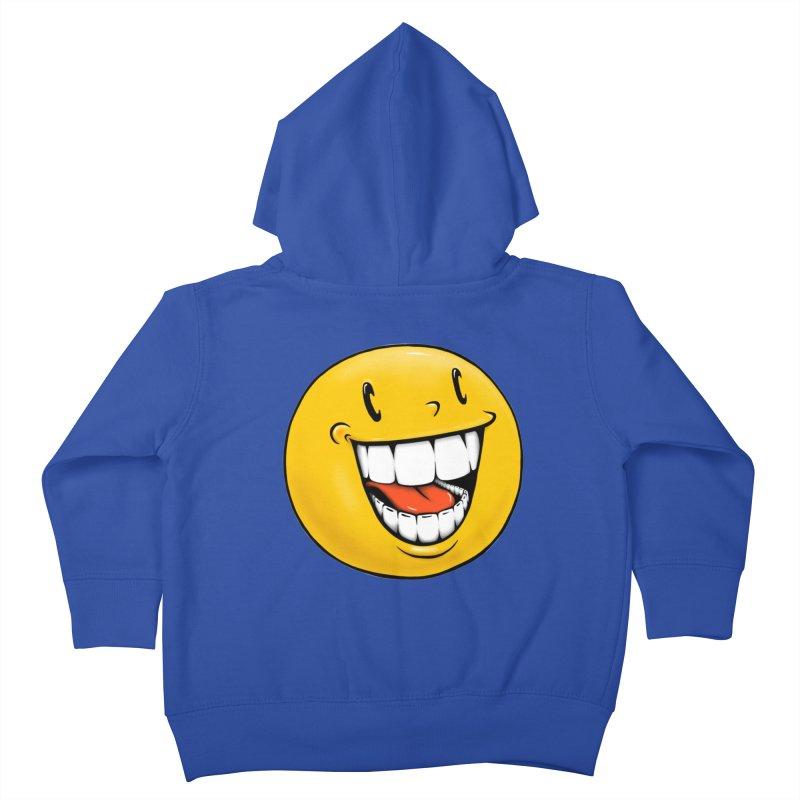 Smiley Emoji Kids Toddler Zip-Up Hoody by IDC Art House