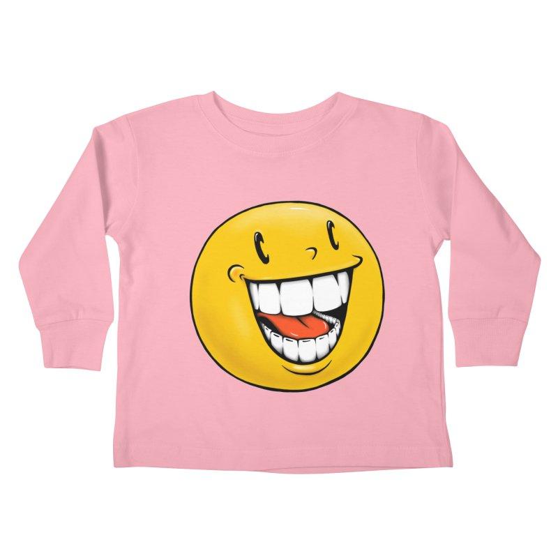 Smiley Emoji Kids Toddler Longsleeve T-Shirt by Stiky Shop
