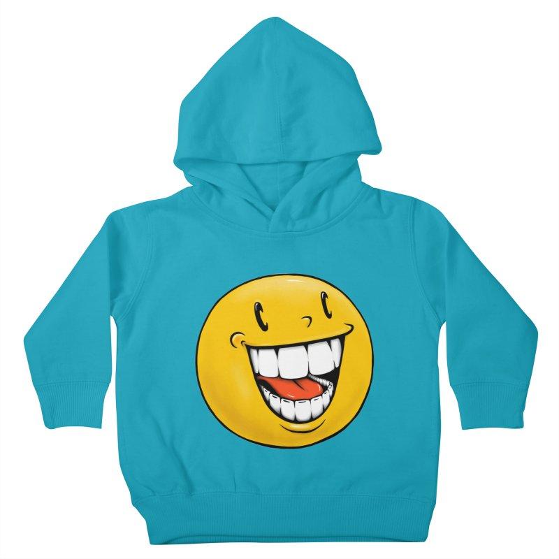 Smiley Emoji Kids Toddler Pullover Hoody by IDC Art House