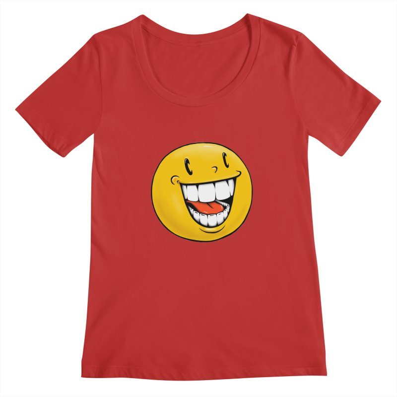 Smiley Emoji Women's Regular Scoop Neck by Stiky Shop