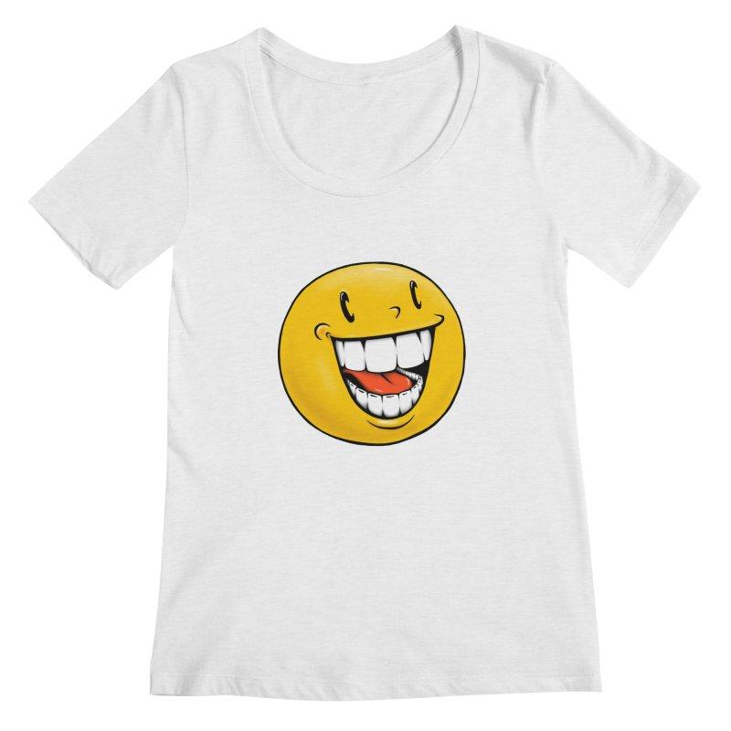 Smiley Emoji Women's Regular Scoop Neck by Stiky Shop
