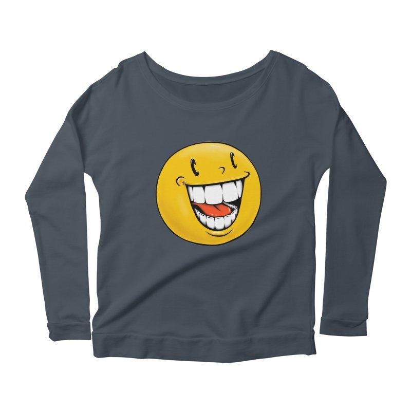 Smiley Emoji Women's Scoop Neck Longsleeve T-Shirt by Stiky Shop