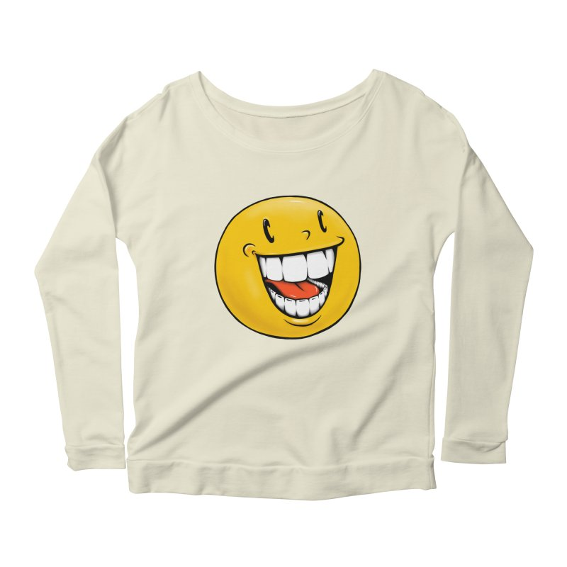 Smiley Emoji Women's Scoop Neck Longsleeve T-Shirt by Stiky Shop