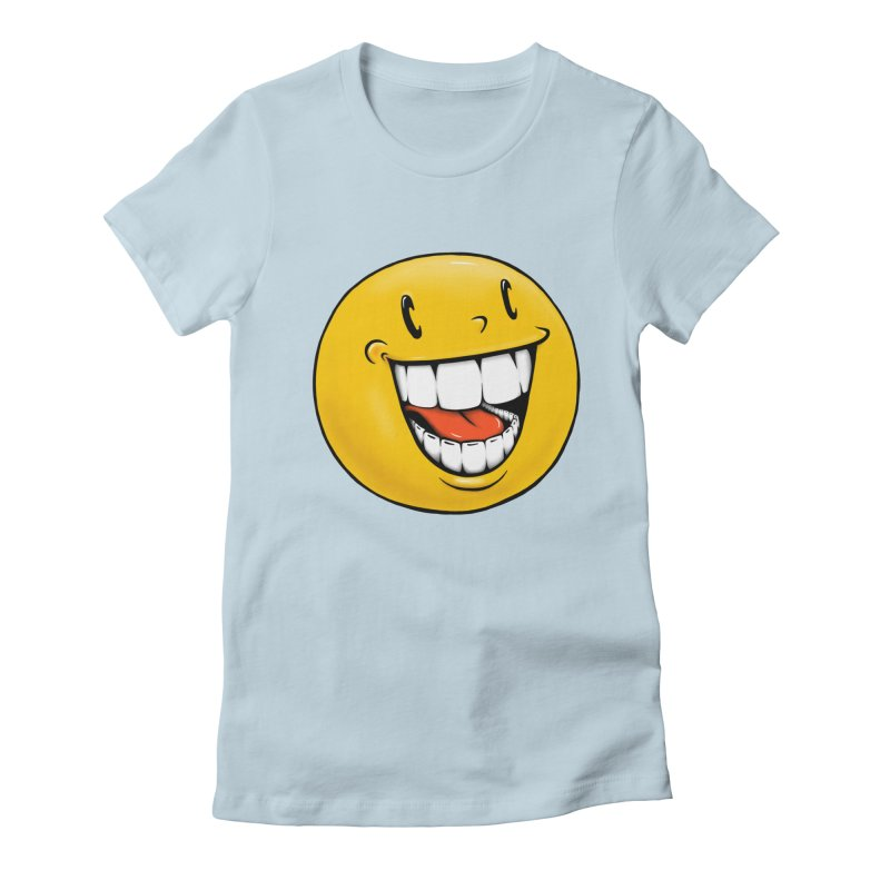 Smiley Emoji Women's Fitted T-Shirt by IDC Art House