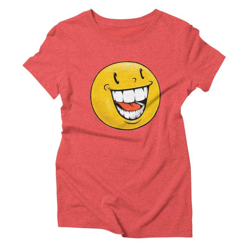 Smiley Emoji Women's Triblend T-Shirt by Stiky Shop
