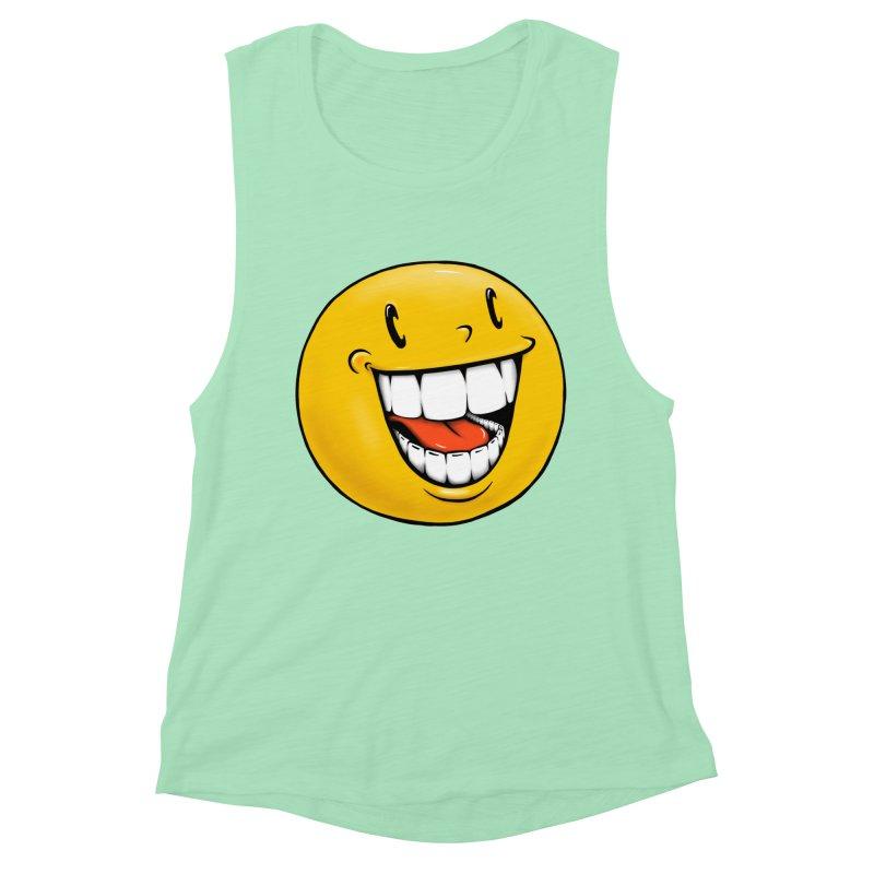 Smiley Emoji Women's Muscle Tank by Stiky Shop