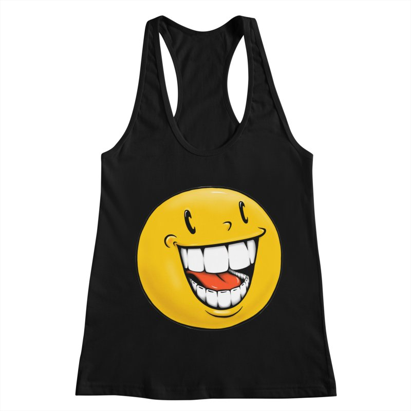 Smiley Emoji Women's Racerback Tank by Stiky Shop