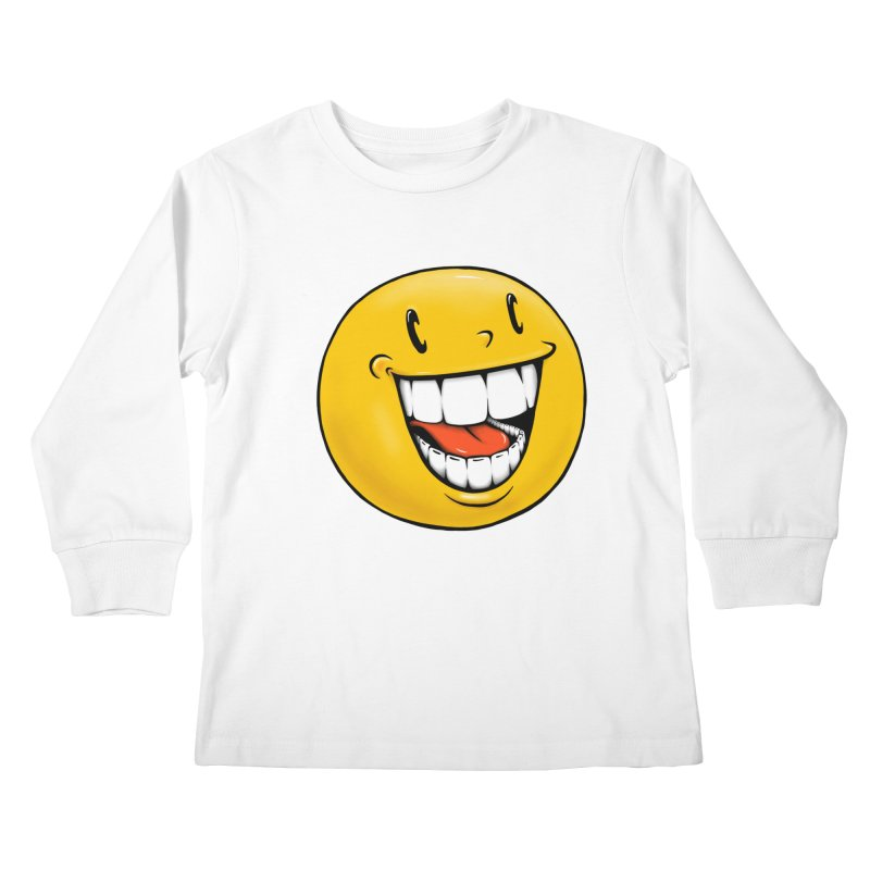 Smiley Emoji Kids Longsleeve T-Shirt by IDC Art House