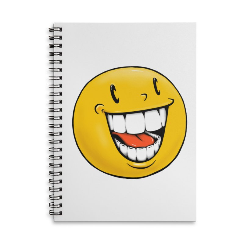 Smiley Emoji Accessories Lined Spiral Notebook by Stiky Shop