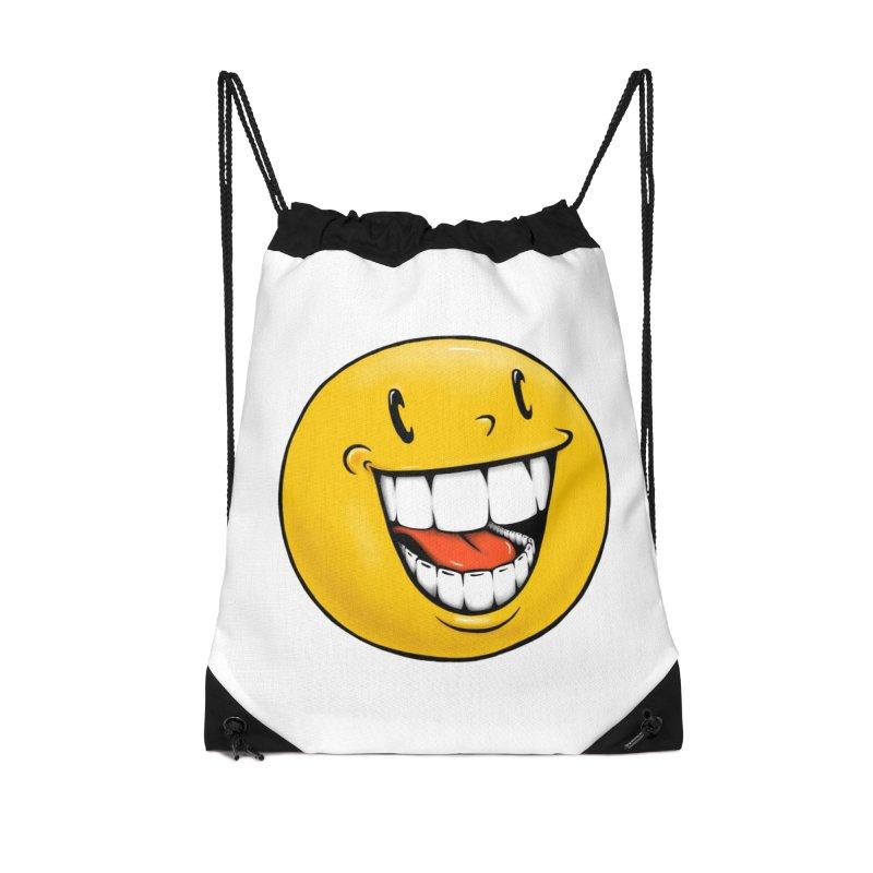 Smiley Emoji Accessories Drawstring Bag Bag by Stiky Shop