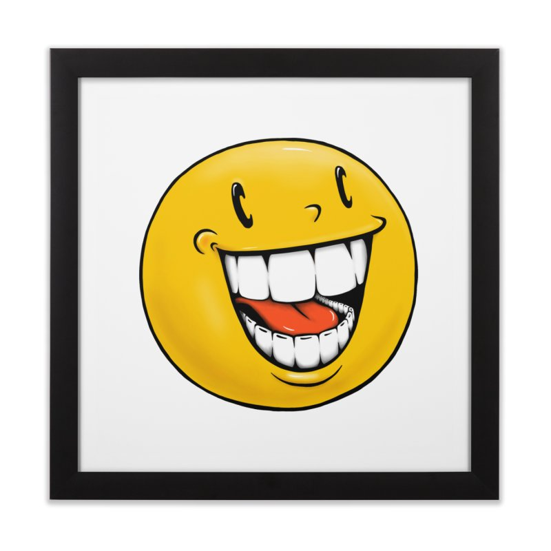 Smiley Emoji Home Framed Fine Art Print by Stiky Shop