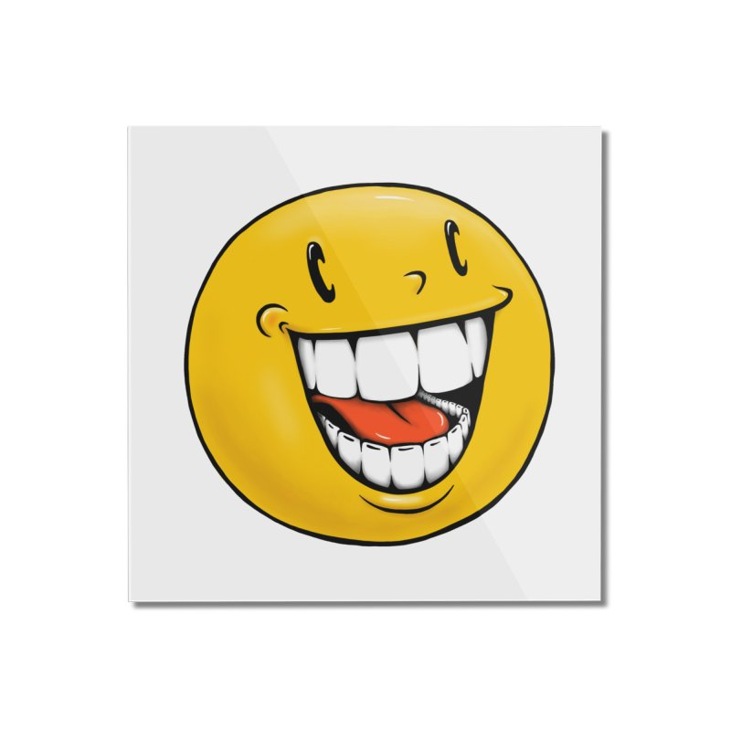 Smiley Emoji Home Mounted Acrylic Print by IDC Art House
