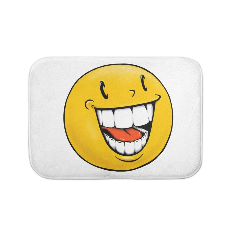 Smiley Emoji Home Bath Mat by Stiky Shop