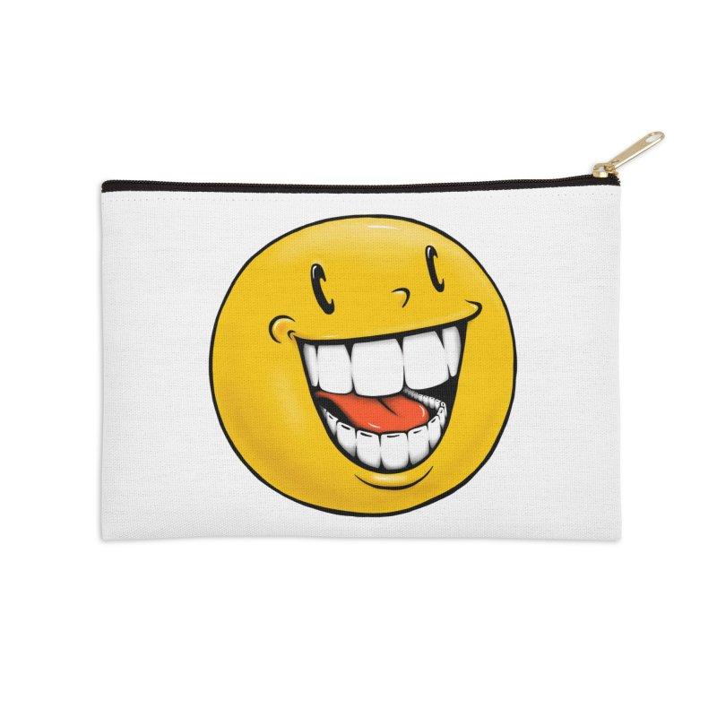 Smiley Emoji Accessories Zip Pouch by IDC Art House