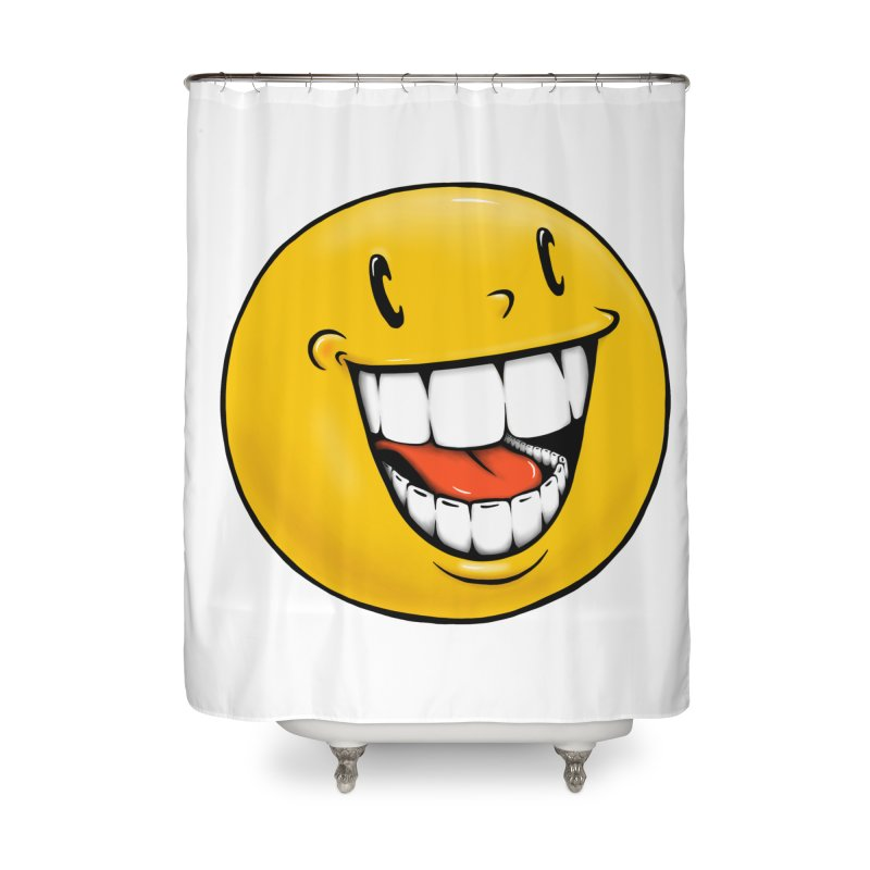 Smiley Emoji Home Shower Curtain by Stiky Shop